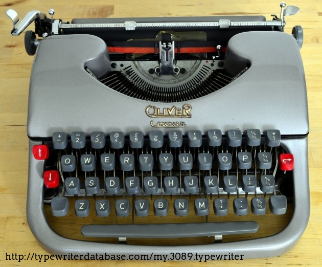 An Oliver Courier Typewriter (1958)